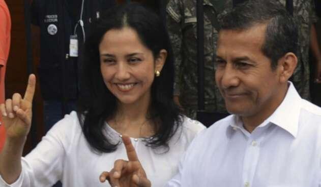 Nadine Heredia junto a su esposo Ollanta Humala.