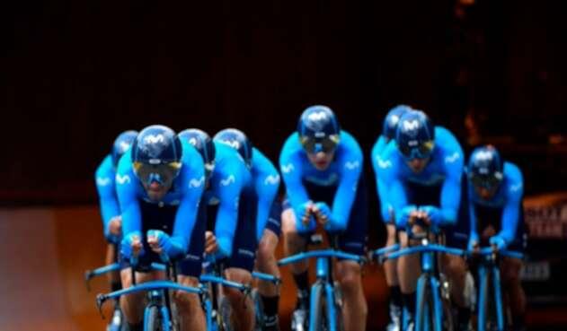 El Movistar Team en la crono del Tour de Francia 2019