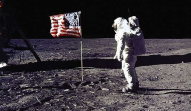 Buzz Aldrin en la Luna, 20 de julio de 1969.
