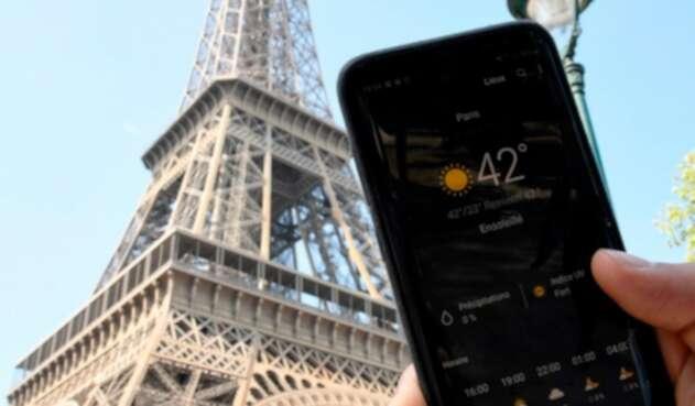 La temperatura en París
