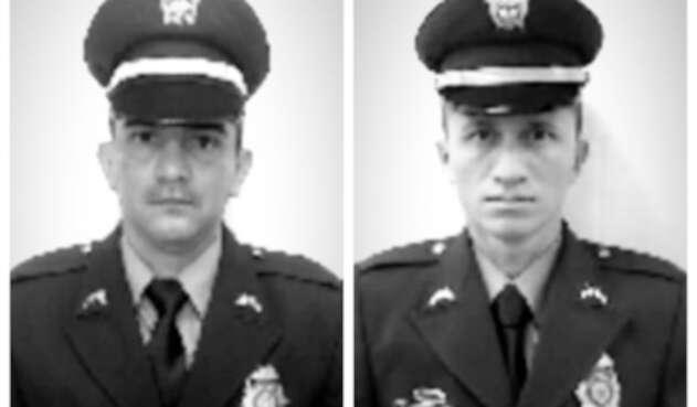 Los subintendentes Ómar Archila y Arbey Rativa, asesinados en Ocaña (Norte de Santander)