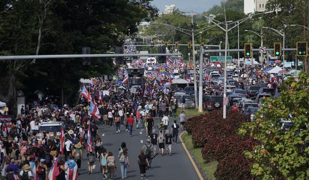 Marchas en Puerto Rico contra Ricardo Rosselló