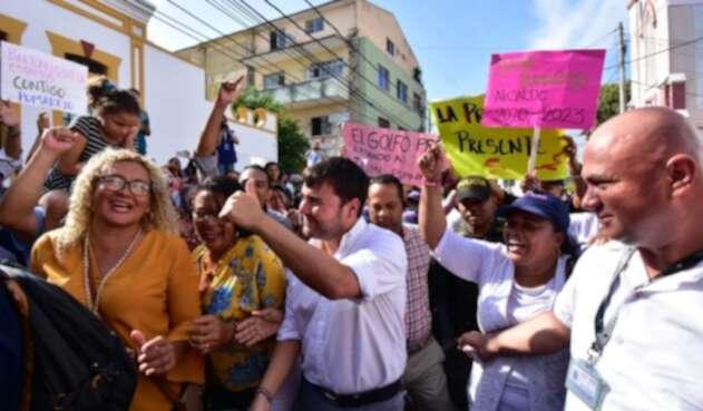 Jaime Pumarejo inscribió su candidatura a la Alcaldía de Barranquilla.