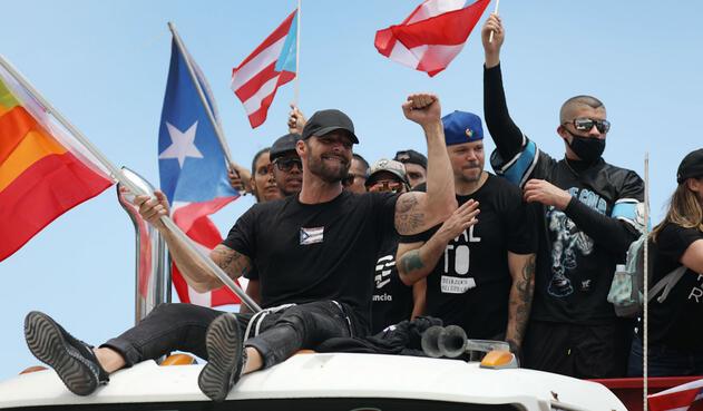 Ricky Martin encabezó las protestas en Puerto Rico.