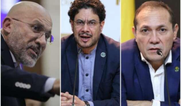 Roy Barreras, Iván Cepeda y Antonio Sanguno, congresistas