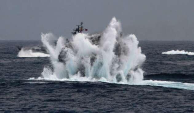 Incendio en submarino ruso