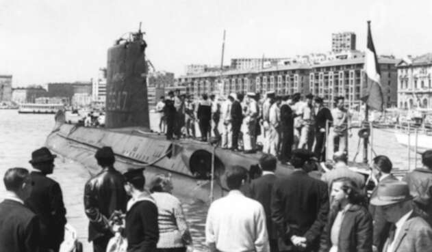 """El submarino francés """"La Minerve"""" desapareció en 1968"""