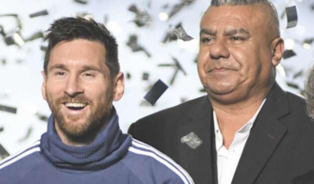 Lionel Messi y Claudio Tapia