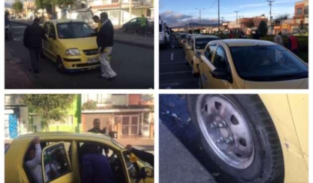 Paro de taxistas en Bogotá