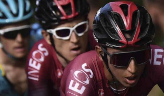 Geraint Thomas y Egan Bernal.