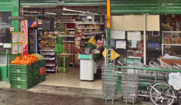Foto de referencia de una tienda en Bogotá