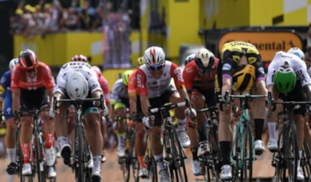 El cierre de la primera etapa del Tour de Francia
