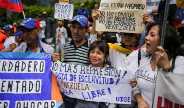 Protestas en medio de independencia de Venezuela
