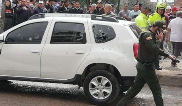 Balacera en el sur de Bogotá deja un policía muerto y otro herido.