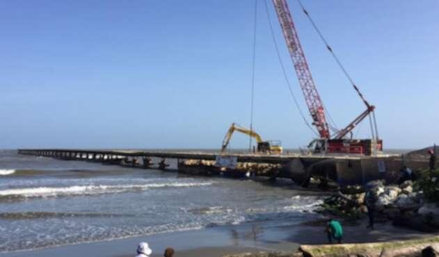 Demolición Muelle de Puerto Colombia