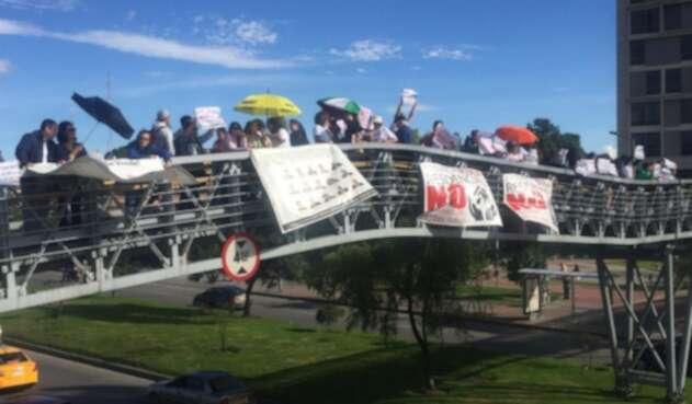 Protestas contra el POT en Bogotá.