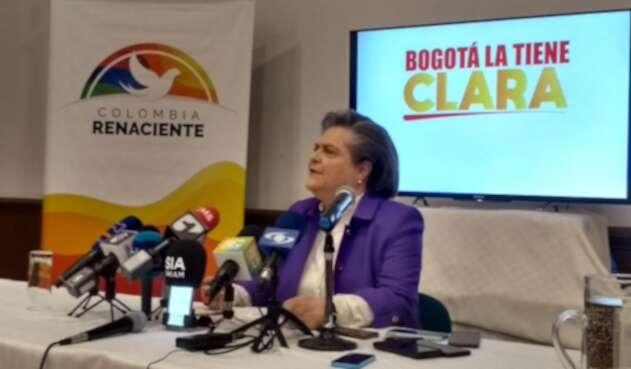 Clara López anuncia candidatura a la Alcaldía de Bogotá