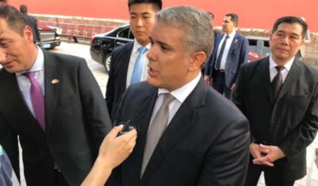 Presidente Iván Duque, en Shaghai (China)