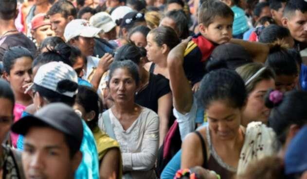 Migrantes venezolanos en Villa del Risario, en Colombia.