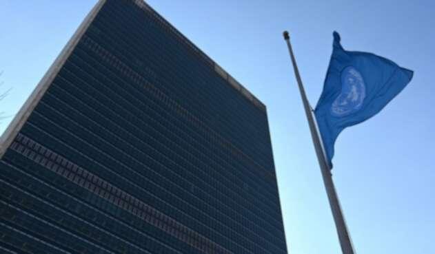 Bandera de la Organización de las Naciones Unidas (ONU)