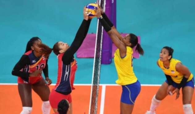 Colombia vs República Dominicana en voleibol