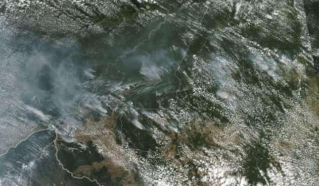 Incendios forestales en la Amazonia, tomados por la Nasa.