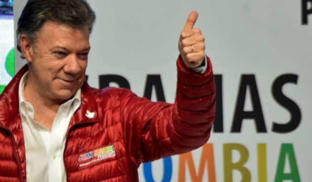 Juan Manuel Santos, durante la campaña por la reelección en 2014.