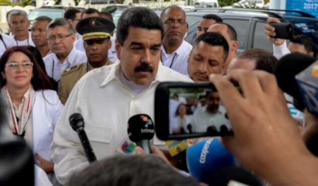 Nicolás Maduro ante la prensa