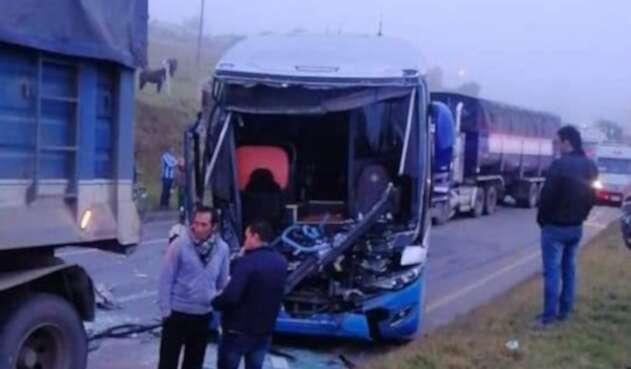 Siete lesionados dejó accidente en vía Tunja-Paipa