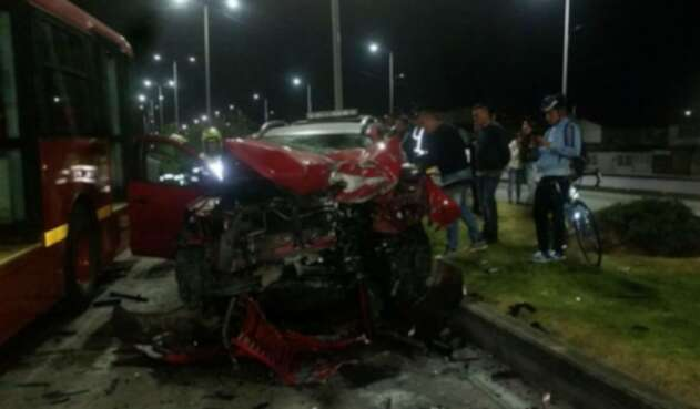 Accidente en Bogotá en Centro Mayor