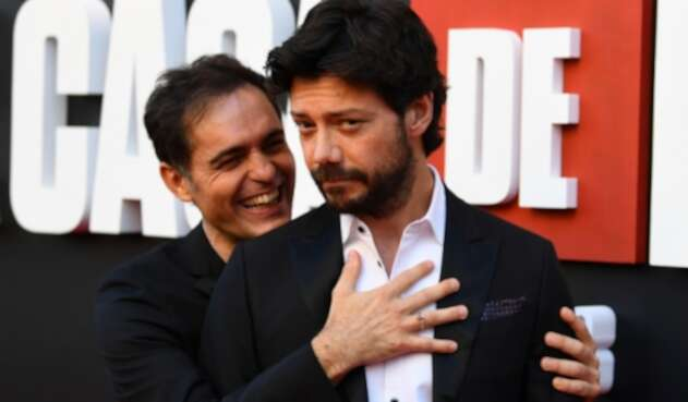 Álvaro Morte y Pedro Alonso