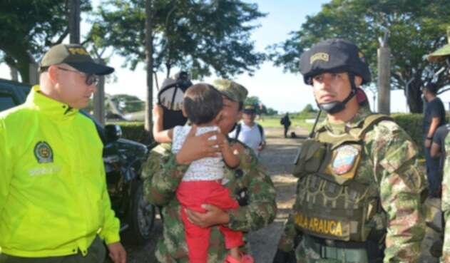 Fuerza pública rescató niño indígena en Arauca