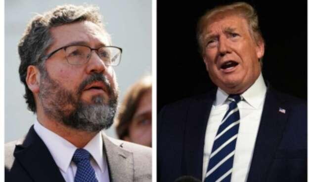 Ernesto Araújo y Donald Trump.