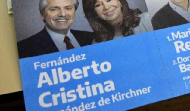 Alberto Fernández con Cristina de Kirchner