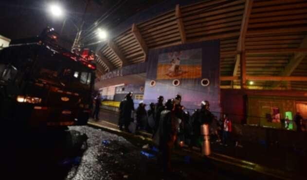 Atentado en Estadio de Honduras