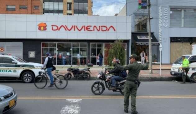Robo en banco Davivienda