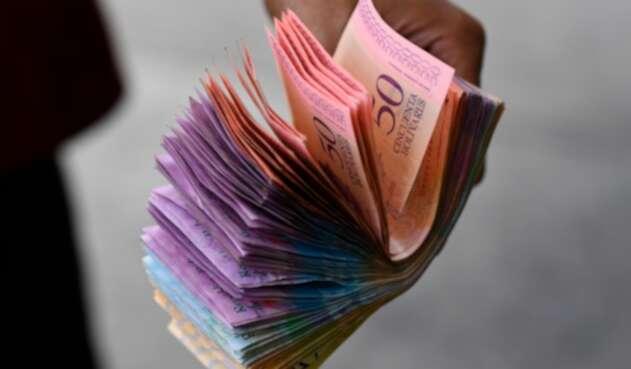 Los bolívares, la moneda oficial de Venezuela