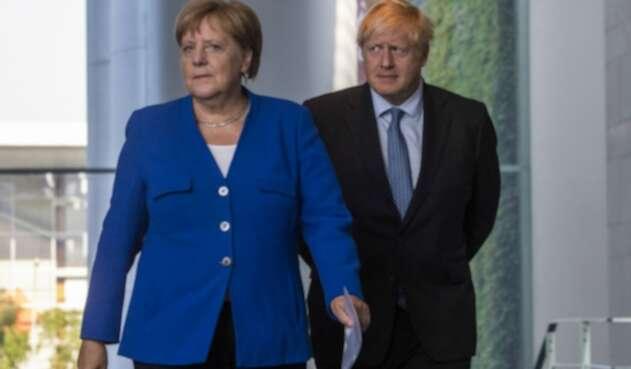 Ángela Merkel y Boris Johnson