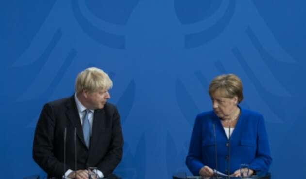 Boris Johnson y Ángela Merkel se reunieron