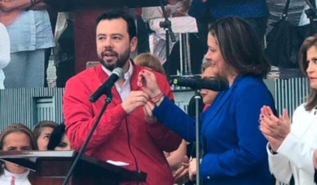 Carlos Fernando Galán y Ángela Garzón