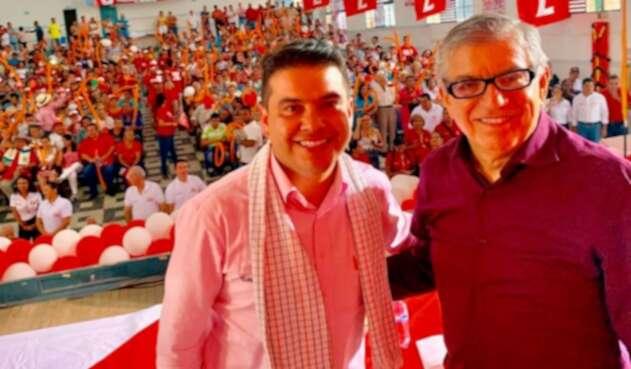 César Gaviria y Nicolás García