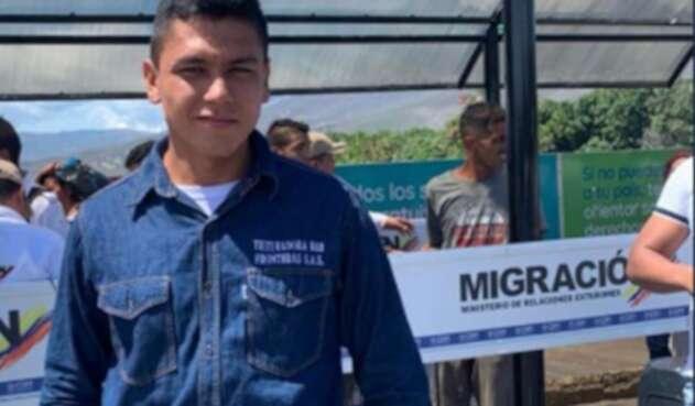 Jorge Iván Cetina, colombiano liberado en la zona de frontera.