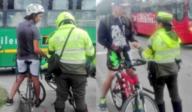 Ciclistas que invaden carriles de Transmilenio: ¿el nuevo problema de Bogotá?