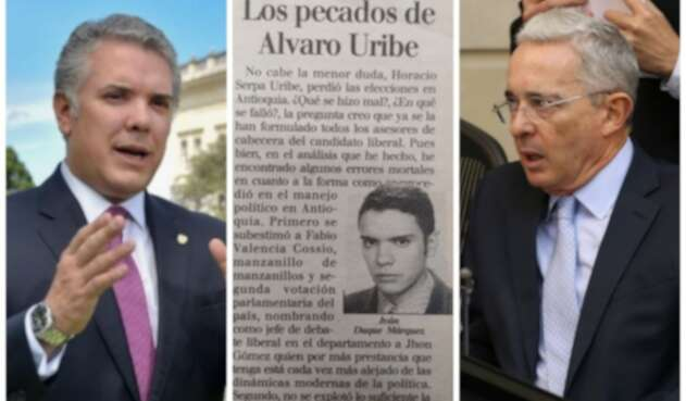 Iván Duque confirma que sí es suya columna sobre Álvaro Uribe.
