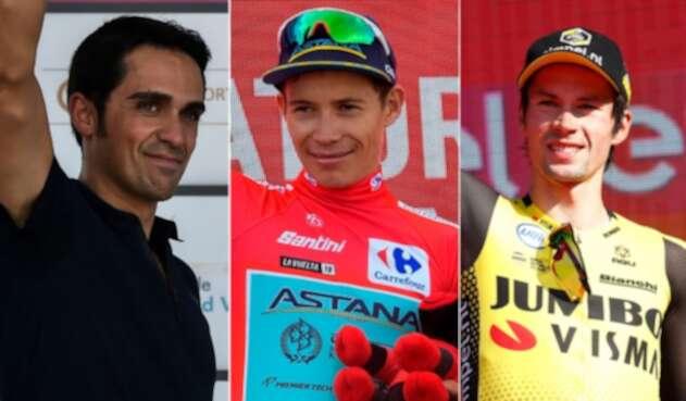 Alberto Contador, Miguel Ángel López, Primoz Roglic