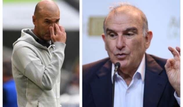 Zinedine Zidane y Humberto de la Calle
