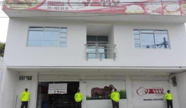 La carne ilegal era comercializada.