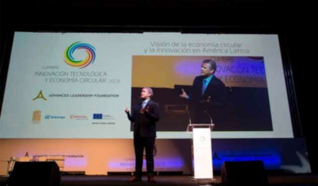 El presidente Iván Duque hablando de economía naranja