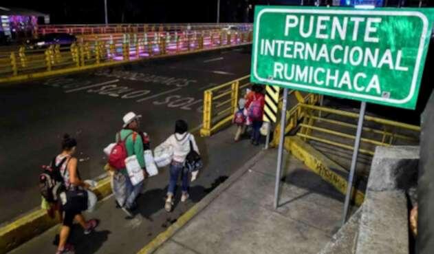 Puente internacional de Rumichaca.