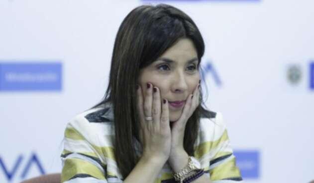 María Victoria Ángulo, ministra de Educación.